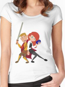 Kim & Ron Cosplay Amy & Rory Women's Fitted Scoop T-Shirt