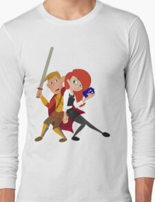 Kim & Ron Cosplay Amy & Rory Long Sleeve T-Shirt