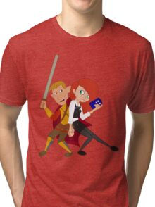 Kim & Ron Cosplay Amy & Rory Tri-blend T-Shirt
