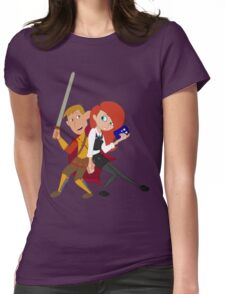 Kim & Ron Cosplay Amy & Rory Womens Fitted T-Shirt
