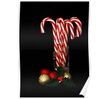 Christmas Candy Canes Poster