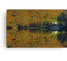 Rydal Water .. Russet Reflections Canvas Print