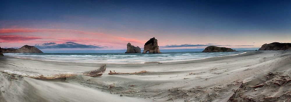 Archway islands wharariki beach by damienlee