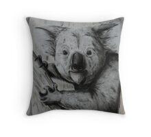 Tinted charcoal koala Throw Pillow