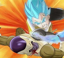 Vegeta SSJ God KO Frieza by LuisIPT