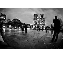 Twilight at Notre Dame Photographic Print