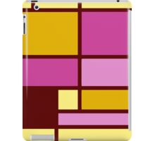 Mondrian style design yellow fuchsia iPad Case/Skin