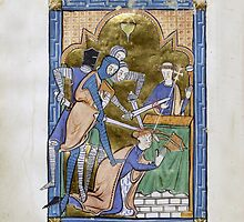 Medieval Illuminated Manuscript: Martyrdom of Saint Thomas Becket by SexyCodicology