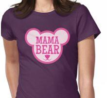 MAMA Bear in teddy bear shape Womens Fitted T-Shirt