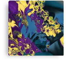Flower purple abstract Canvas Print