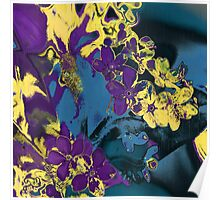 Flower purple abstract Poster