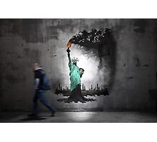 Lierty oil graffiti Photographic Print