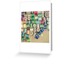 Cotton Reels Greeting Card