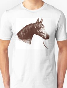 Red Frontier Arabian Horse Drawing 1985 Unisex T-Shirt