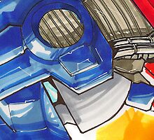 Optimus Prime Horizontal by Jeffery Borchert