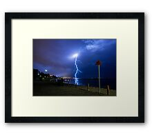A Bolt out of the Blue Framed Print