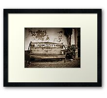 'No Comment' - Faro, Portugal Framed Print