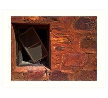 A Crooked Window at Tennant Creek Art Print