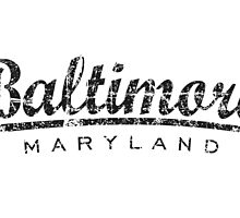 Baltimore Maryland Classic Vintage Black by theshirtshops