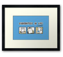 Guarantees in Life Framed Print