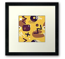 Modern hand draw colorful abstract seamless pattern  Framed Print