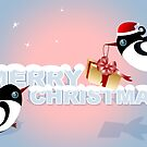 Christmas Card - Birds Christmas Gift by ruxique