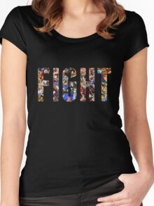 FIGHT Women's Fitted Scoop T-Shirt