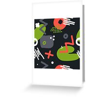 Modern hand draw colorful abstract seamless pattern Greeting Card