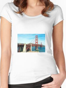 Golden Gate Bridge Women's Fitted Scoop T-Shirt