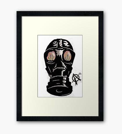 Masking the problem. Framed Print