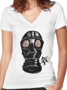 Masking the problem. Women's Fitted V-Neck T-Shirt