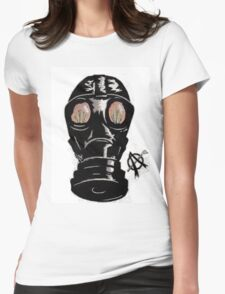 Masking the problem. Womens Fitted T-Shirt