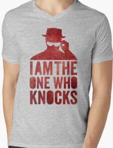 I am the one who knocks Mens V-Neck T-Shirt