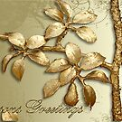 Gold Seasons Greetings by BronReid