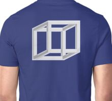 OPTICAL ILLUSION, CUBE, Geometry, Cubic, Square, odd, strange, weird, Volume, Necker cube, Geometry, Volume Unisex T-Shirt