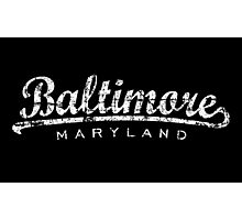 Baltimore Maryland Classic Vintage White Photographic Print