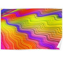 Colorful waves Poster