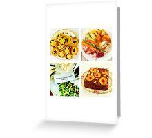 Christmas food Greeting Card