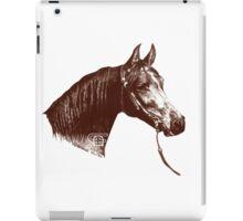 Red Frontier Arabian Horse Drawing 1985 iPad Case/Skin