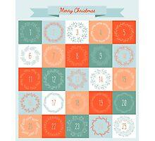 Christmas advent calendar Photographic Print