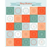 Christmas advent calendar Photographic Print