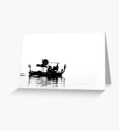 Fisher Boat  Greeting Card