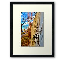 Peaking Through the Fence Framed Print