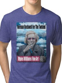 Myles Williams Fine Art - Red Spectacles Tri-blend T-Shirt