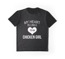 My Heart Belongs To An Chicken Girl - Tshirts & Accessories Graphic T-Shirt