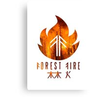 Forest Fire - Flames Canvas Print