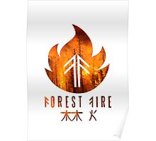 Forest Fire - Flames Poster