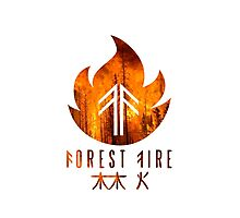 Forest Fire - Flames Photographic Print