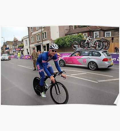 Taylor Phinney - at Olympic Time Trial London 2012 Poster