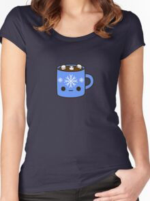 Mug of hot chocolate with cute marshmallows Women's Fitted Scoop T-Shirt